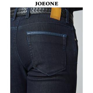 九牧王(JOEONE)牛仔裤 2018年秋季新款商务休闲植绒保暖裤子 175/82A商务保色JJ186041T