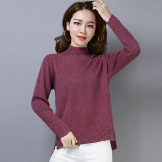尚格帛 2018冬季新品女装毛衣女韩版套头打底针织衫套头高领毛衣 LLFYMD8602GB 黄色 L