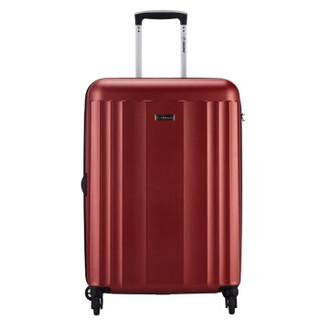 Diplomat 磨砂箱子拉杆箱行李箱男女旅行箱密码箱万向轮箱包C-15174TT 28英寸 红色
