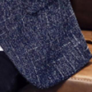 猫人(MiiOW)男士西服休闲时尚单西便服外套QT4016-1-1606蓝色M