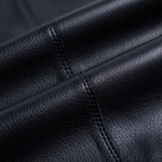 凯撒 KAISER 皮衣 春季男士新品商务西装领单排扣皮衣外套西装领优质绵羊皮男式上衣 黑色 180/96A