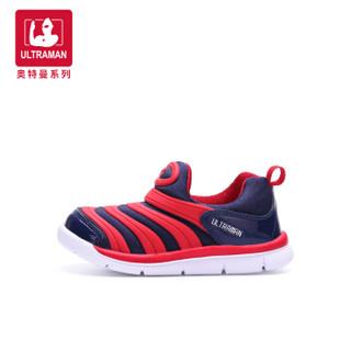 奥特曼童鞋 毛毛虫童鞋 新款儿童运动鞋小童宝宝鞋 A10253 玫红 24码