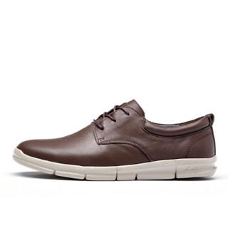 cele 策乐 商务休闲鞋 头层牛皮超轻绑带低帮男士  棕色 39码 M8C1S16101
