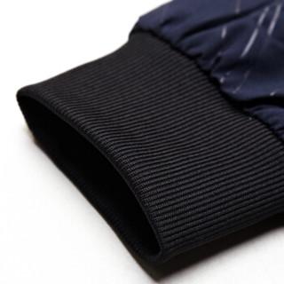 北极绒夹克男2019春季新款男士修身潮流休闲立领外套带绒 JR10藏青加绒 180/52A(2XL)