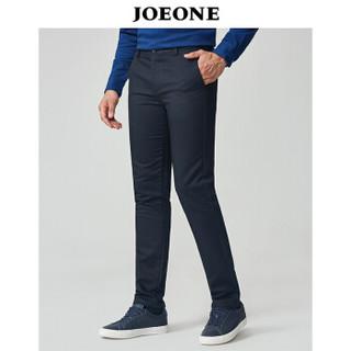 九牧王(JOEONE)休闲裤 男士2018年秋季新款商务休闲男裤180/98B藏青JB185043T