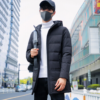 Mexican 稻草人 冬季新款男士轻薄男士保暖休闲外套修身中长款上衣 18169DC258987