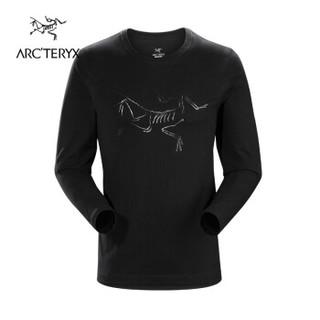ARC'TERYX 始祖鸟 男款棉质长袖T恤 1001019763AQA7XL Archaeopteryx LS T-shirt M 19763 L06932800/黑色 XL