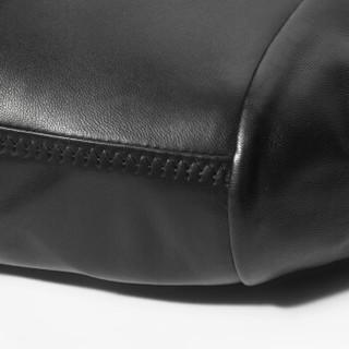 雪豹2019秋季新款皮衣男绵羊皮夹克男士单皮修身薄款外套商务翻领短款皮衣01945 黑色 56