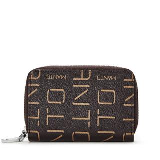 MANTOBRUCE 蒙特布鲁斯 卡包女 短款女式钱包 简约时尚休闲零钱包卡包 咖啡色