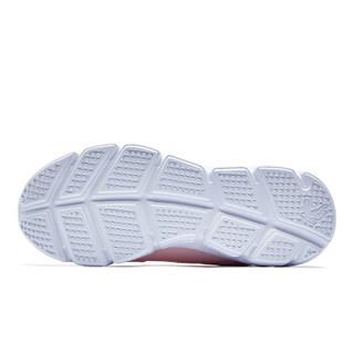 QIAODAN 乔丹 女鞋运动鞋革面耐磨轻便跑步鞋 XM4680230B 藕粉色/银色 35.5