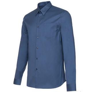 PRADA 普拉达 男士空军蓝色混纺长袖衬衫 UCM971 F62 F0D57 42码 185/104A