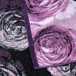 金号 毛巾家纺 纯棉加厚抽象艺术枕巾 单条装  紫色  200g/条  80*52cm