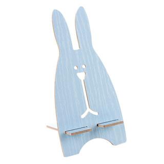洁比世 创意DIY木质手机座 可爱兔子手机支架 通用懒人手机托架