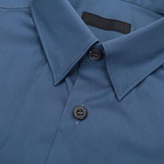 PRADA 普拉达 男士蓝色混纺长袖衬衫 UCN050 F62 F0RU7 L码