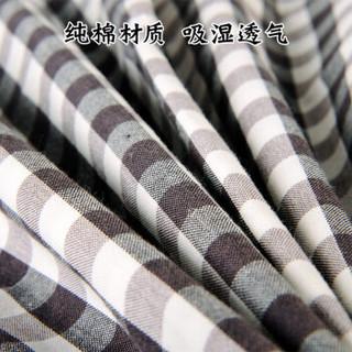 华康 全棉枕套 32支纯棉色织水洗棉枕头套 1个装44×32配套调节枕换洗 深沉灰