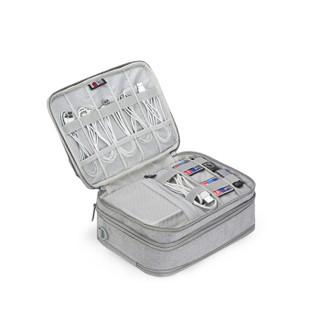 BUBM 数码收纳包数据线U盘移动电源硬盘鼠标充电器整理袋保护套手机配件大容量旅行收纳包 DPS-N小号