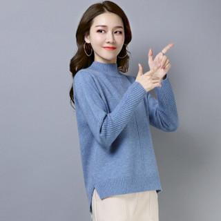 尚格帛 2018冬季新品女装毛衣女韩版套头打底针织衫套头高领毛衣 LLFYMD8602GB 米白 XXL