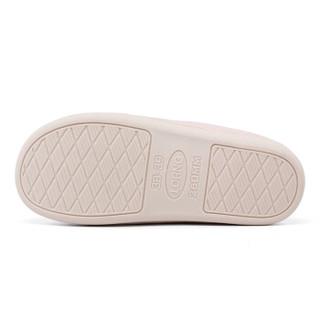 良橙家居 简约居家休闲保暖情侣室内防滑加厚包头棉拖鞋女款 LC1705 粉色 36-37