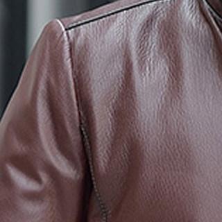 金盾(KIN DON)羽绒服 2018秋冬新品男士时尚立领绵羊皮衣外套5017-77058棕色4XL