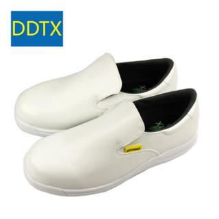 DDTX 厨房鞋 男女四季款厨师工作 防滑防水轻便耐油 白色 37 CHEF400W