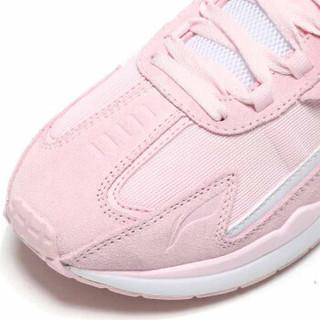 LI-NING 李宁 运动时尚系列 女 运动时尚鞋 AGCN398-5 弱粉红/标准白 36