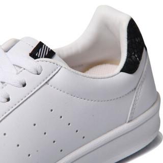 LI-NING 李宁 运动时尚系列 女 运动时尚鞋 AGCM224-4 标准白/新基础黑 35.5