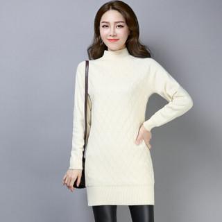 尚格帛 2018冬季新品女装毛衣女修身半高领针织衫中长款加绒加厚毛衣 LLFYYMM11803GB 红色 XXXL