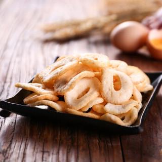 印尼进口 奥嘉莱 O'Garlos 蟹片原味烤蟹味黑胡椒味甜辣味组合装30g*4/包