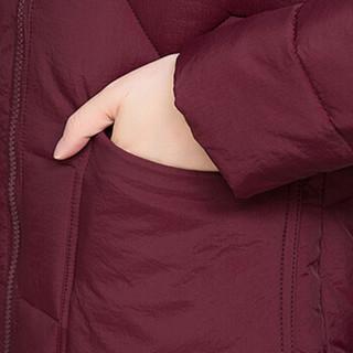 欧偲麦 棉服女秋冬季外套女棉衣女时尚修身显瘦2019新款大码女装 XH-SS18B120 咖啡色 5XL