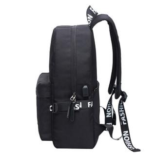 SVVISSGEM  电脑包 防泼水多功能多用休闲包笔记本双肩包背包书包USB接口 14.6英寸 SA-9986黑色
