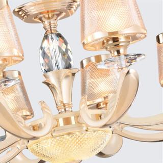 nvc-lighting/雷士照明 欧式吊灯 吊灯 S金+米白 40-79W