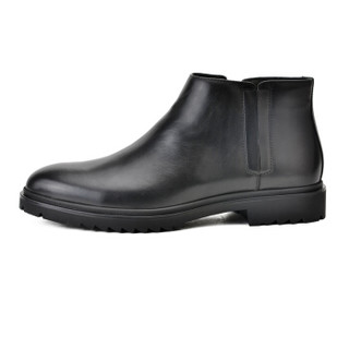 Roberta di Camerino 诺贝达 男士英伦风小牛皮加绒保暖舒适套脚靴子 黑色(欧码) 42 WRH60611A2