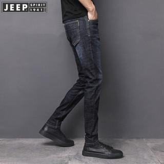 吉普(JEEP)牛仔裤男2019春季新品 男士欧美户外休闲军旅风宽松直筒裤子 2015 蓝灰色 38