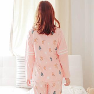 诺宜(nuoyi)月子装孕产妇月子服家居服睡衣哺乳衣J38036粉色M