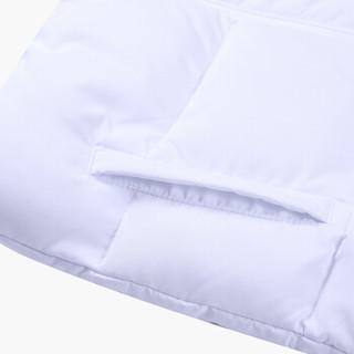 乔丹 QIAODAN QFM4483575 乔丹童装休闲棉服女童连帽棉衣厚外套儿童保暖上衣白色140CM