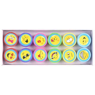 正彩(ZNCI)儿童印章幼儿园玩具卡通鼓励学生奖品教师奖励小印章礼物送小朋友 大脸表情12枚装 2703