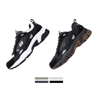 SKECHERS 斯凯奇 运动休闲鞋 男士蛇纹时尚复古 厚底增高 666058-BKW 黑色/白色 43