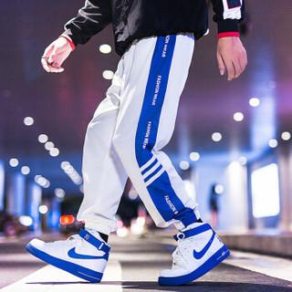 AEMAPE/美国苹果 休闲裤男2019春季新款时尚运动小脚裤韩版哈伦裤束脚男装潮流卫裤 APCK02 白色 2XL