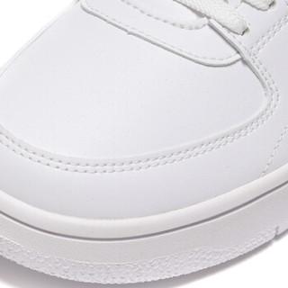 LI-NING 李宁 运动时尚系列 男 秋冬季 运动时尚鞋 AGCN357-1 标准白/荧光耀橙 41.5