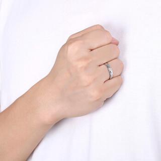 鸣钻国际 筑爱 钻石对戒 白18k金钻戒 结婚求婚戒指 情侣款