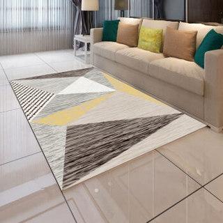 九洲鹿地毯 客厅简约地垫卧室茶几床边地毯时尚款 140*200cm 大规格