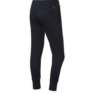 LI-NING 李宁 运动时尚系列 女 卫裤类 AKLN694-1 标准黑 S