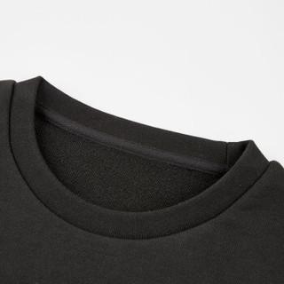 海澜优选卫衣19春季新品时尚净色拼接刺绣运动卫衣男士FNZWJ38010A黑色镶拼(15)180/96A(XL)