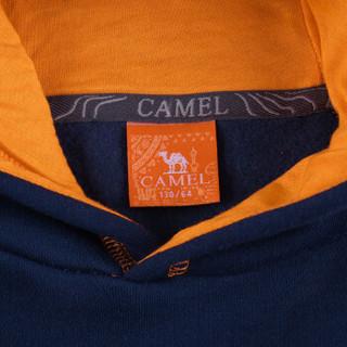 骆驼 CAMEL童装 儿童户外男童中大童户外套头连帽卫衣外套 A6W52N814 宝蓝 130