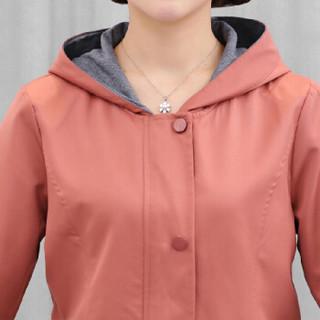 沫欣 2018冬季新品女装中老年女装中年外套女大码40岁50中老年服装夹克 GZ92887MX 咖色 XXXL