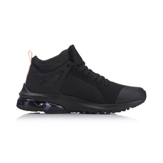 LI-NING 李宁 AGLN138-3 运动时尚系列 女 运动时尚鞋 标准黑/新珊瑚粉 35