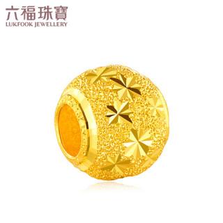 六福珠宝 足金路路通转运珠黄金串珠吊坠不含项链 计价 B01TBGP0012 约1.01克