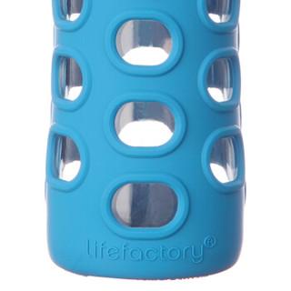 Lifefactory LF230212C4 耐热玻璃杯 650ml 湖蓝色