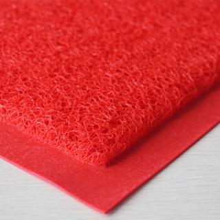 迪茵DIYIN 特厚出入平安地垫塑料丝圈地毯脚垫防滑垫门垫电梯口家用红色超市酒店欢迎光临迎宾门口 60*90cm