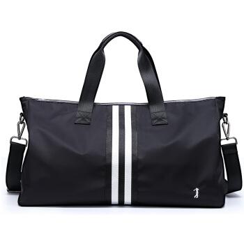 GOLF 高尔夫 旅行包防水加大容量行李包男女款健身包撞色手提包时尚旅游包男士出差包 D8BV64894S 黑色